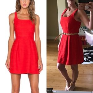 1. State Dresses - 1. State Cotton Red Mini Dress Pockets Fit Flare